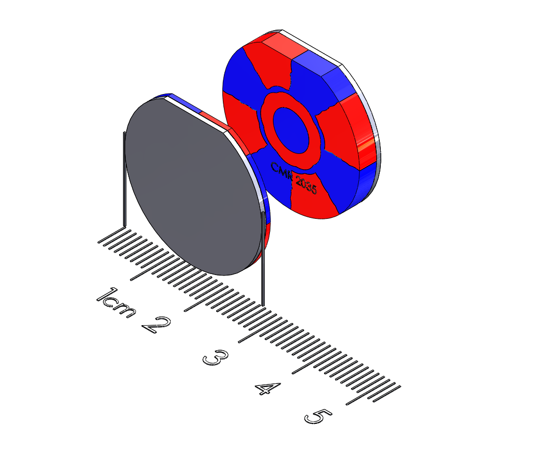 "Mobile Device Polymagnet pair - Twist/Release - 1"" diameter"