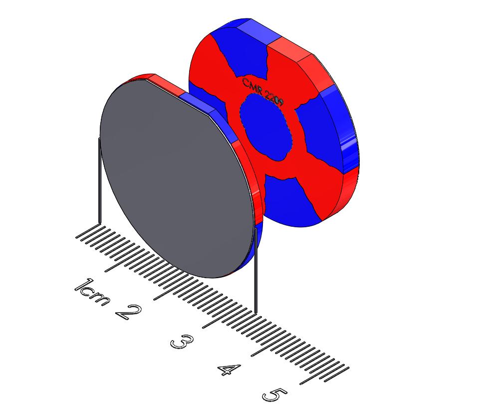 "Large Tablet Polymagnet pair - Twist/Release - 1.25"" diameter"