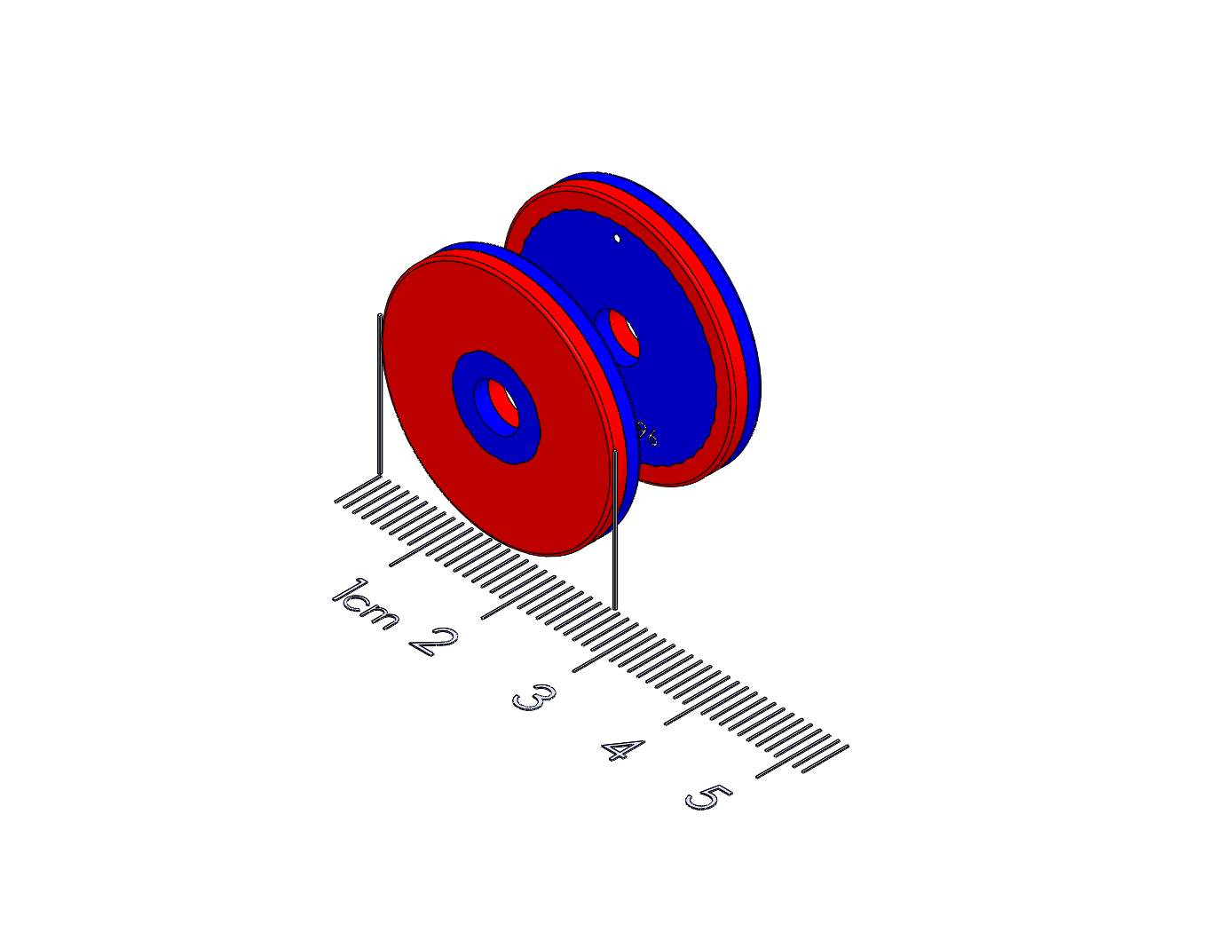 """Latch Polymagnet pair - Push To Close - 1"""" Ring"""