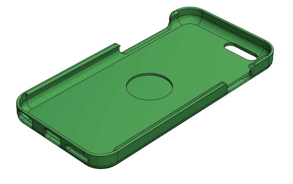 "iPhone 6 case for 1"" centering magnet (free download)"