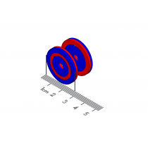"Spring Polymagnet pair - Long Range Repel - 1"" Ring"