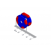 "Twist-Release Polymagnet pair - 20 degree w/detent - M4 ctsk - 1"" D-shape"