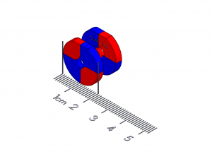 "Twist/Release Polymagnet pair - 90 degree - M3 ctsk - 0.75"" diameter"