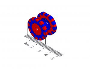 "Detent Polymagnet pair -  12 position (30 degree) - #6 CTSK - 1"" D-shape"