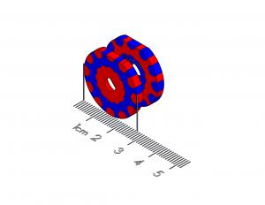 "Detent Polymagnet pair -  12 position (30 degree) - M4 CTSK - 1"" D-shape"