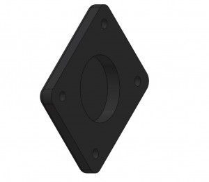 """AMPS hole pattern mount adapter for 1"""" Centering Magnets (free download)"""