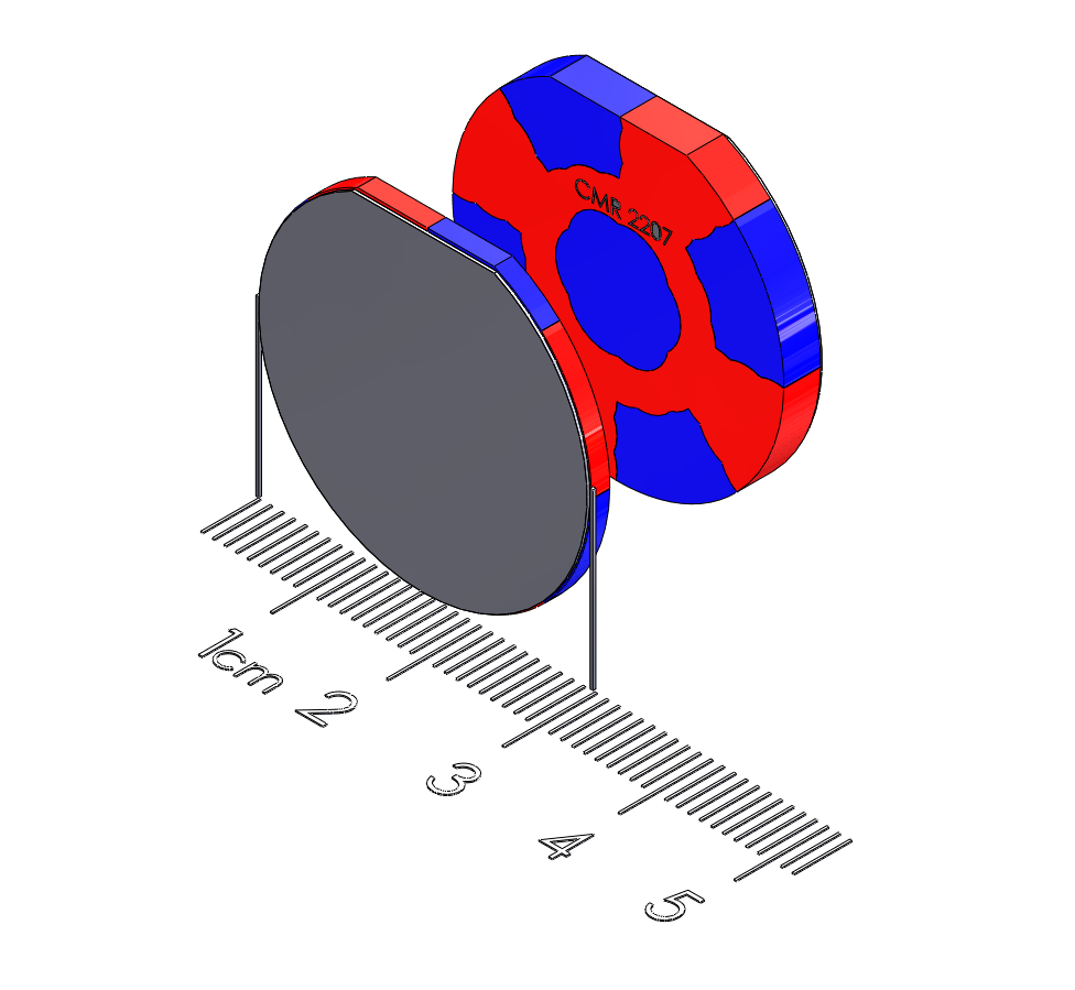 """Small Tablet Polymagnet pair - Twist/Release - 1.125"""" diameter"""