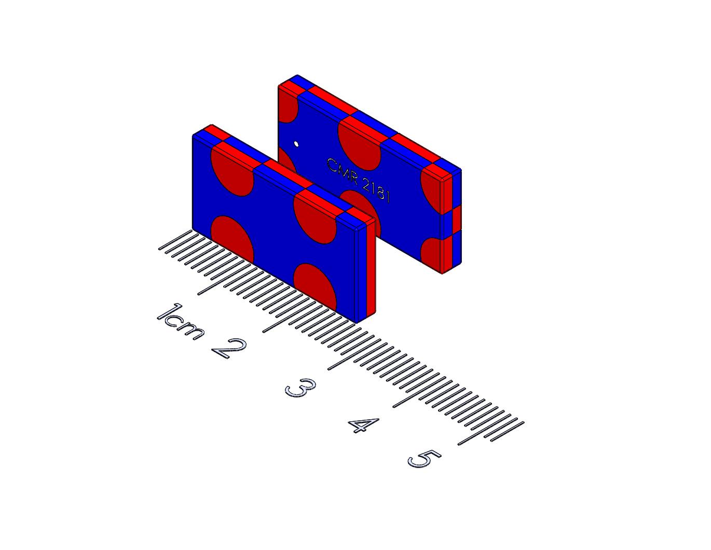 "Sliding latch Polymagnet pair - 1"" L x 0.5"" W"
