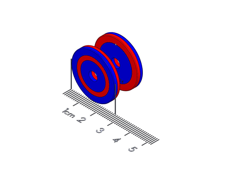 "Spring Polymagnet pair - Long Range Repel - 1"" Ring"