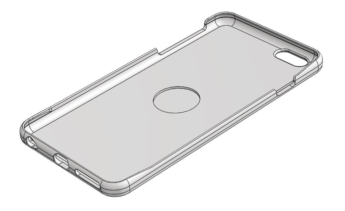 """iPhone 6+ case for 1"""" centering magnet (Free download)"""