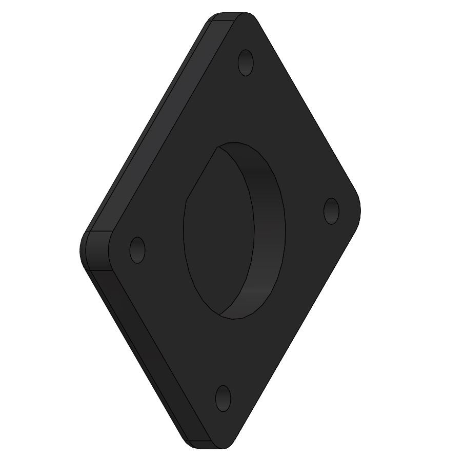 "AMPS hole pattern mount adapter for 1"" Detent Magnets (free download)"