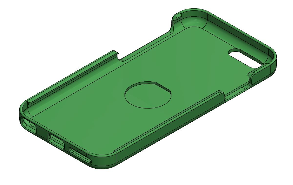 """iPhone 6 case for 1"""" detent magnet (free download)"""