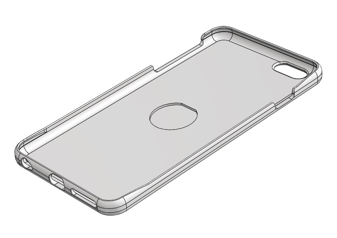 """iPhone 6+ case for 1"""" Detent magnet (Free Download)"""