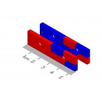 "Drawer Detent Polymagnet pair - #6 ctsk - 2"" x 0.5"""