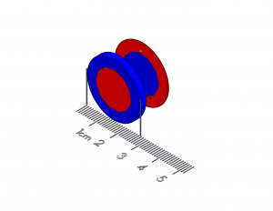 "Mobile Device Polymagnet pair - Center Alignment - 1"" diameter"